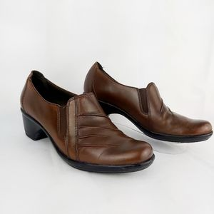 Clark leather slip on shoes mule comfort shoes